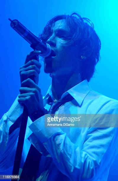 Brandon Boyd lead singer of Incubus during Incubus Live In Concert at The Great Western Forum in Inglewood California United States