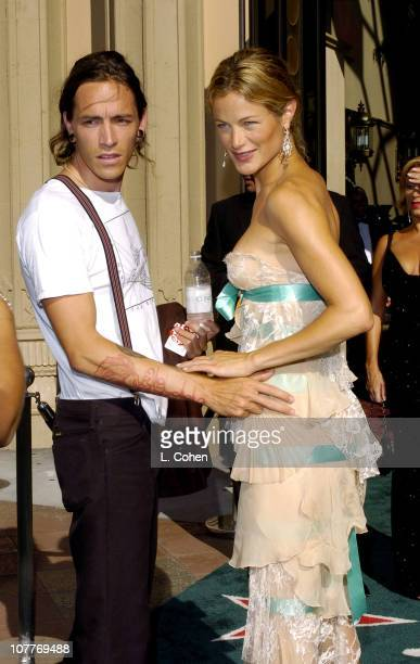 Brandon Boyd of Incubus and Carolyn Murphy during The 5th Annual Latin GRAMMY Awards Green Carpet at Shrine Auditorium in Los Angeles California...