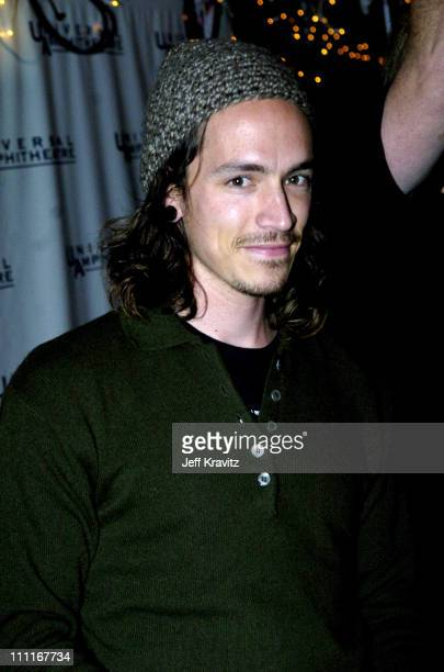 Brandon Boyd of Incubus during 2004 KROQ Almost Acoustic Christmas Night 2 Backstage at Universal Amphitheatre in Universal City California United...