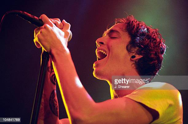 Brandon Boyd of Incubus during Incubus in Concert at Event Center Arena in San Jose California United States
