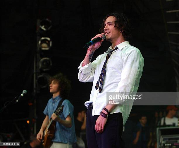Brandon Boyd of Incubus during KROCK 923 FM Radio New York Dysfunctional Family Picnic VI Show at Jones Beach Theater in Wantagh New York United...