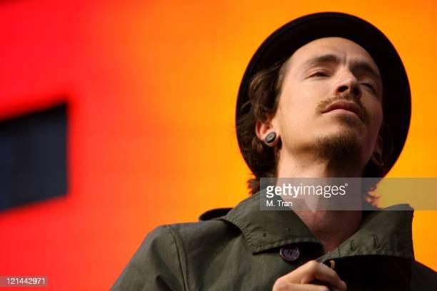 Brandon Boyd of Incubus during KROQ Weenie Roast Y Fiesta 2007 Show at Verizon Amphitheater in Irvine California United States