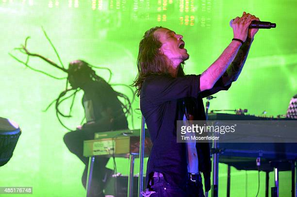 Brandon Boyd of Incubus performs at Red Rocks Amphitheatre on August 24 2015 in Morrison Colorado