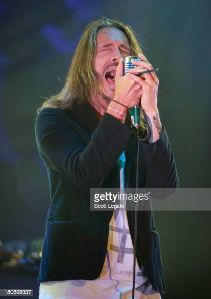 Brandon Boyd of Incubus performs during the Honda Civic Tour at The Palace of Auburn Hills on August 21, 2012 in Auburn Hills, Michigan.