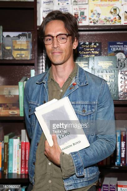 Brandon Boyd of Incubus promotes his new book 'So The Echo' at Barnes Noble Tribeca on September 30 2013 in New York City