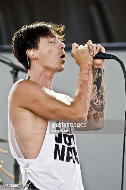 Brandon Boyd performs with the 'Incubus' at Dicks Sporting Goods in Denver Colorado on July 18 2009