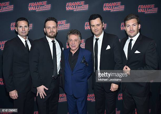 Brandon Brigham Todd Fournier Frankie Valli Brian Brigham and Brandon Brigham attend 'Frankie Valli And The Four Seasons' Broadway Opening Night at...