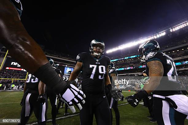 Brandon Brooks of the Philadelphia Eagles enters the field before the game against the New York Giants at Lincoln Financial Field on December 22 2016...