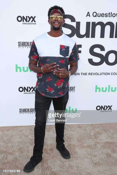 """Brandon Brown attends a Cinespia Special Screening Of Fox Searchlight And Hulu's """"Summer Of Soul"""" With Questlove at The Greek Theatre on July 09,..."""