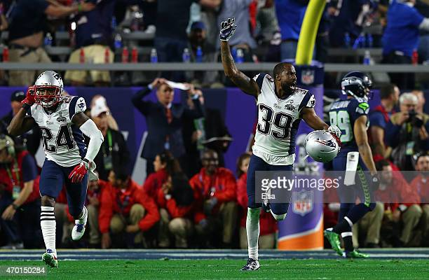 Brandon Browner of the New England Patriots after defeating the Seattle Seahawks 2824 during Super Bowl XLIX at University of Phoenix Stadium on...