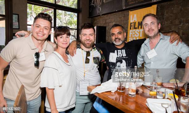 Brandon Buczek Amanda Evans Harris Doran Arshad Khan and Julius Ramsay attend the DGA Reception during 2017 Los Angeles Film Festival at City Tavern...