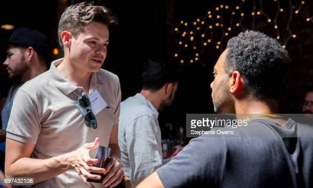 Brandon Buczek and Yatri N Niehaus attend the DGA Reception during 2017 Los Angeles Film Festival at City Tavern on June 16 2017 in Culver City...