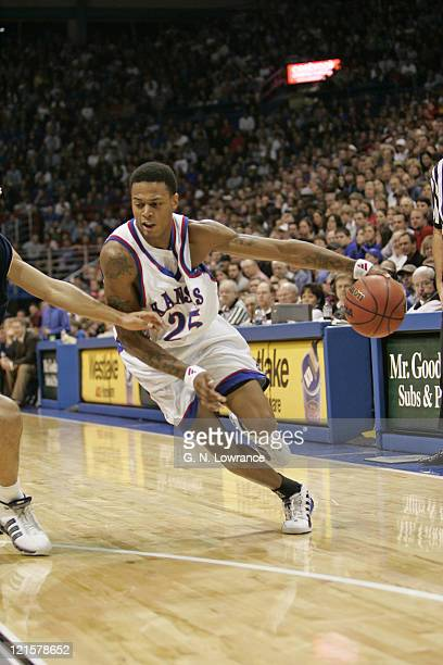 Brandon Bush of the Kansas Jayhawks during 2ndhalf action against the Northern Colorado Bears at Allen Fieldhouse in Lawrence Kansas on December 22...