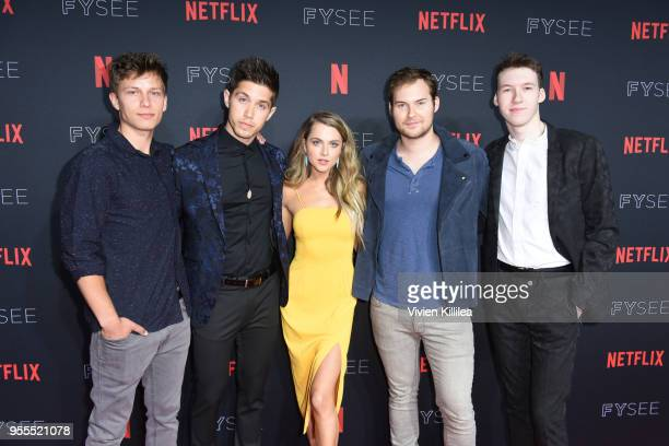 Brandon Butler Brandon Larracuente Anne Winters Justin Prentice and Devin Druid attend the Netflix FYSee Kick Off Party at Raleigh Studios on May 6...