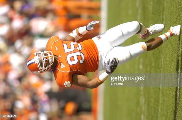 Brandon Cannon of the Clemson Tigers runs during the game against the Maryland Terrapins November 4, 2006 at Memorial Stadium in Clemson, South...