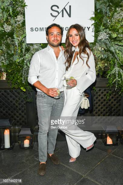 Brandon Charnas and Arielle Charnas attend Nordstrom's SOMETHING NAVY Brand Launch Dinner At The Gramercy Park Hotel on September 5 2018 in New York...