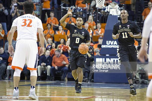 Brandon Childress of the Wake Forest Demon Deacons makes his way down the court during Wake Forest's game against the Virginia Cavaliers at John Paul...