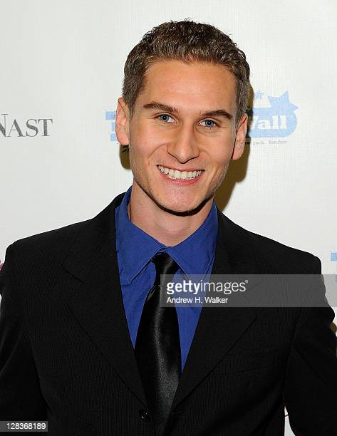 Brandon Cohen attends a ceremony in which Angelica Page receives honors from FameWall NYC at Hurley's Saloon on October 6 2011 in New York City