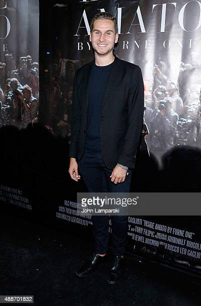 Brandon Cohen attends 'Inside Amato' New York premiere at Liberty Theater on September 16 2015 in New York City