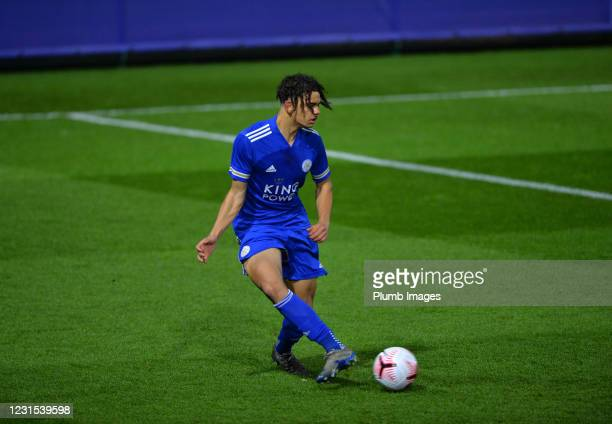 Brandon Cover of Leicester City during Leicester City v Sheffield Wednesday: FA Youth Cup at Leicester City Training Ground on March 5, 2021 in...