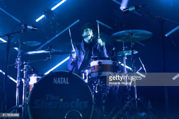 Brandon Crook of The Sherlocks performs on stage at The Liquid Room on February 13 2018 in Edinburgh Scotland
