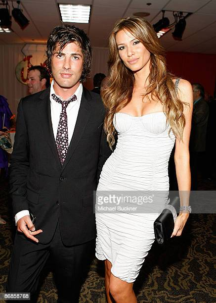 Brandon Davis and Erin Naas arrive at the 16th Annual Race to Erase MS event cochaired by Nancy Davis and Tommy Hilfiger at Hyatt Regency Century...