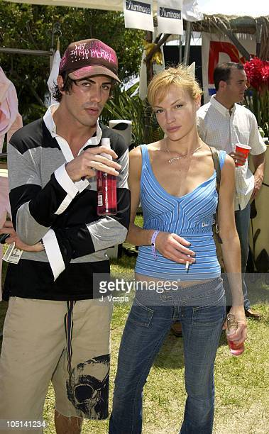 Brandon Davis and Jolene Blalock during Cabana PreMTV Movie Awards Beauty Buffet Day Two at Private Residence in Hollywood California United States