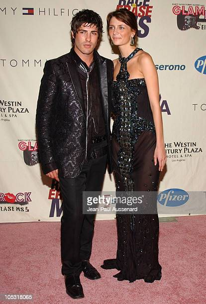 Brandon Davis and Mischa Barton during 11th Annual Race To Erase MS Gala Arrivals at The Westin Century Plaza Hotel in Los Angeles California United...