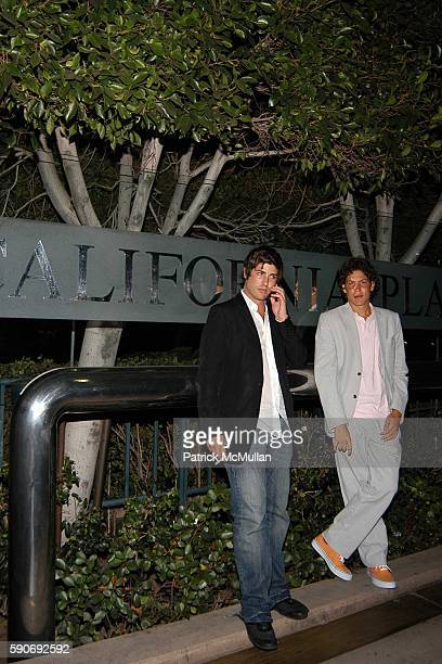 Brandon Davis and Vito Schnabel attend Basquiat Exhibition Preview at MOCA on July 15 2005 in Los Angeles CA