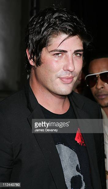 Brandon Davis during Pharrell Williams and Absolut Ruby Red Host Pre VMA Party Outside Arrivals at Chinatown Brasserie in New York City New York...
