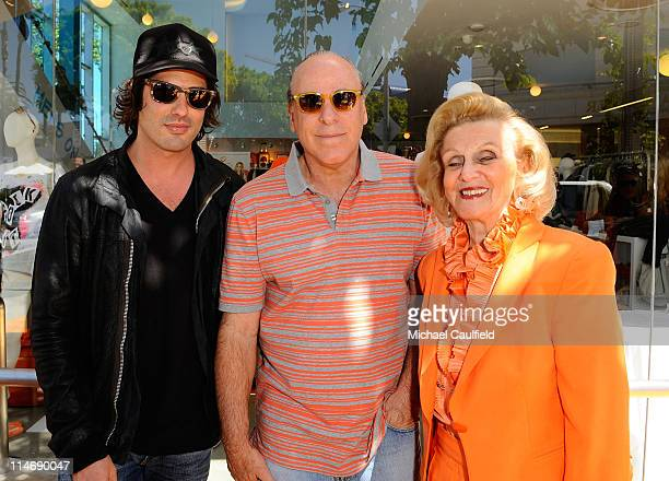 Brandon Davis, Ken Rickel and Barbara Davis attend the Race To Erase MS fundraiser held at Kitson on Melrose to kick off May as multiple sclerosis...
