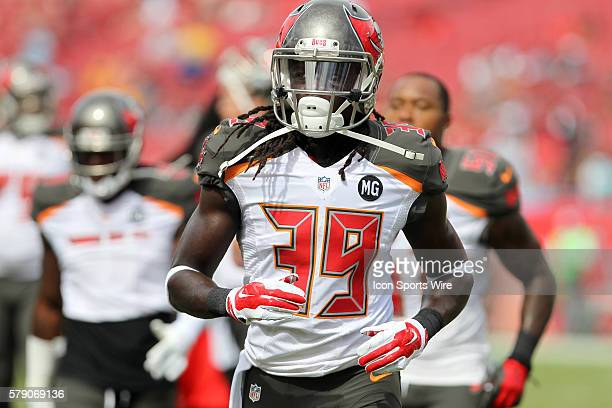 Brandon Dixon of the Buccaneers before the regular season play between the Carolina Panthers and the Tampa Bay Buccaneers at Raymond James Stadium in...