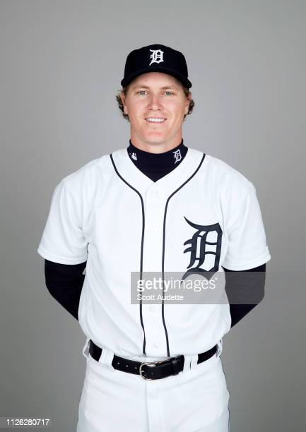 Brandon Dixon of the Detroit Tigers poses during Photo Day on Tuesday February 19 2019 at Publix Field at Joker Marchant Stadium in Lakeland Florida