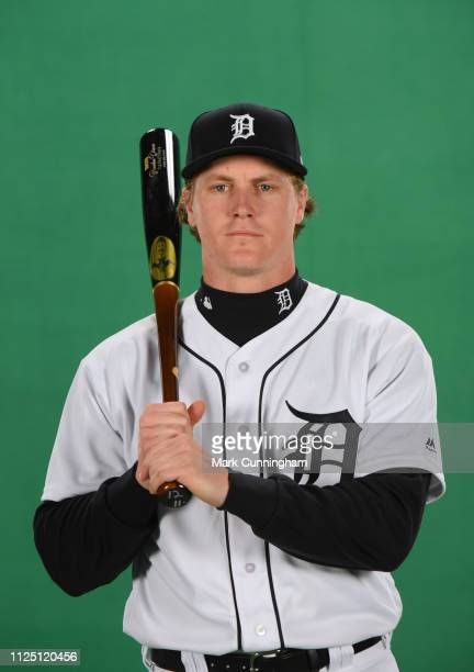 Brandon Dixon of the Detroit Tigers poses for a photo during Spring Training workouts at the TigerTown Complex on February 15 2019 in Lakeland Florida