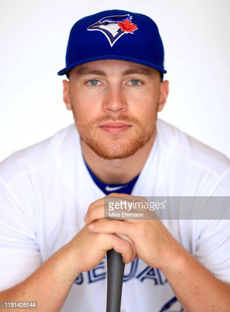 Brandon Drury of the Toronto Blue Jays poses for a portrait during photo day at Dunedin Stadium on February 22, 2019 in Dunedin, Florida.