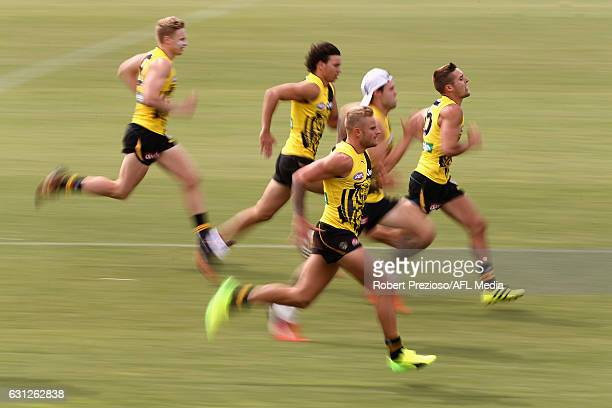 Brandon Ellis runs during a Richmond Tigers AFL training session at ME Bank Centre on January 9 2017 in Melbourne Australia