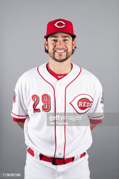Brandon Finnegan of the Cincinnati Reds poses during Photo Day on Tuesday February 19 2019 at Goodyear Ballpark in Goodyear Arizona