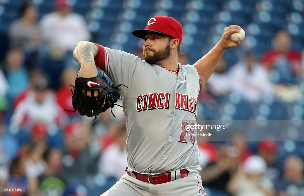 Brandon Finnegan #29 of the Cincinnati Reds throws a pitch in the first inning during a game against the Philadelphia Phillies at Citizens Bank Park on May 13, 2016 in Philadelphia, Pennsylvania. The Phillies won 3-2.
