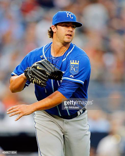 Brandon Finnegan of the Kansas City Royals pitches against the New York Yankees during his major league debut at Yankee Stadium on September 06 2014...