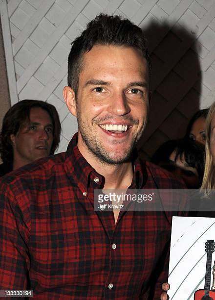 Brandon Flowers backstage on night two of KROQ Almost Acoustic Christmas at Gibson Amphitheatre on December 12 2010 in Universal City California