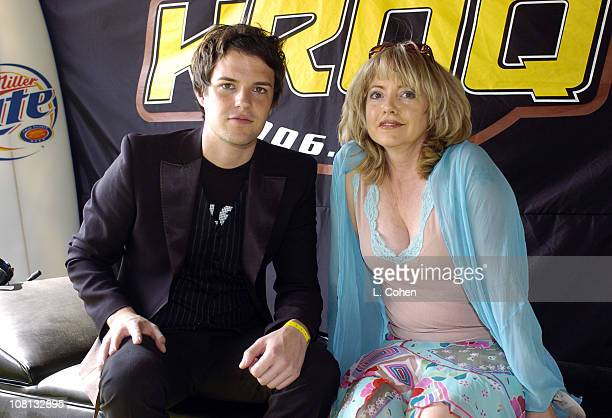 Brandon Flowers from The Killers with KROQ's Tami Heide