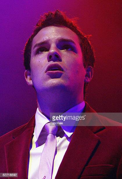 Brandon Flowers of Las Vegas indie band The Killers performs on stage during the first of their standalone London shows at Carling Academy Brixton on...