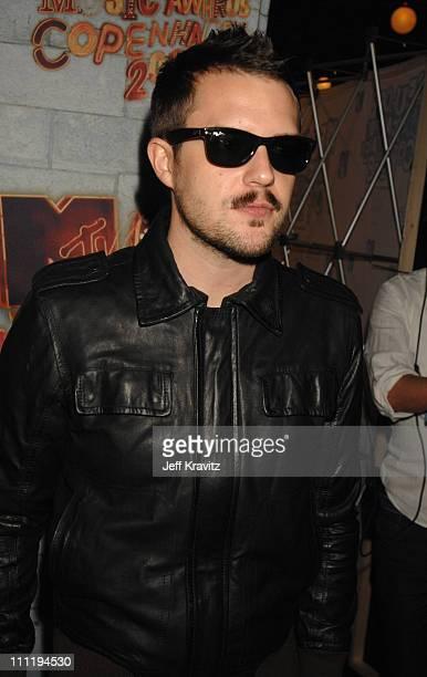 Brandon Flowers of The Killers during 2006 MTV European Music Awards Copenhagen Red Carpet Arrivals at Bella Centre in Copenhagen Denmark