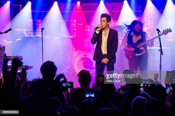 Brandon Flowers of The Killers performs at Belly Up on September 2, 2016 in Aspen, Colorado.