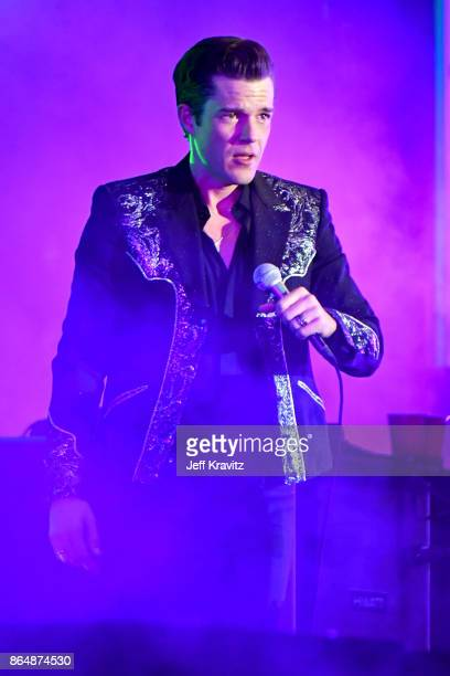 Brandon Flowers of The Killers performs at Camelback Stage during day 2 of the 2017 Lost Lake Festival on October 21 2017 in Phoenix Arizona