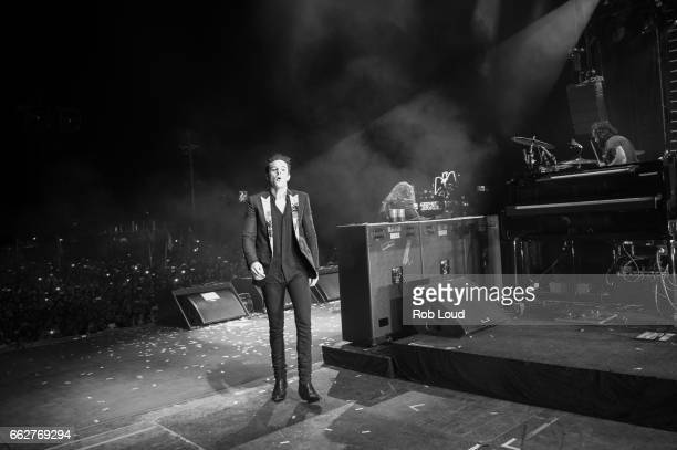 Brandon Flowers of The Killers performs at Pal Norte Festival on March 31 2017 in Monterrey Mexico