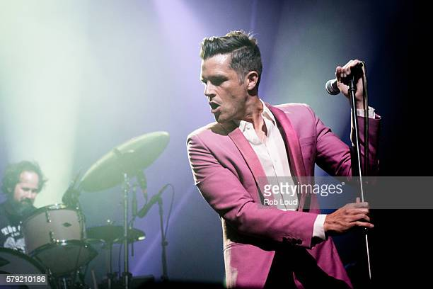 Brandon Flowers of The Killers performs at The Borgata Event Center on July 22 2016 in Atlantic City New Jersey