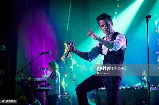 Brandon Flowers of The Killers performs at The Killers Sam's Town Decennial Extravaganza at Sam's Town Hotel Gambling Hall on September 30 2016 in...