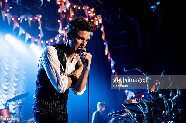 Brandon Flowers of The Killers performs at The Killers' Sam's Town Decennial Extravaganza at Sam's Town Hotel Gambling Hall on October 1 2016 in Las...