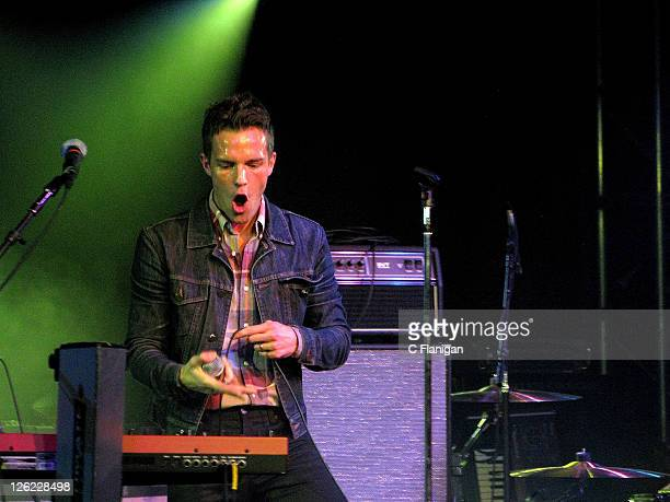 Brandon Flowers of The Killers performs during A Celebration Of Music Hosted By Sean Parker on September 22 2011 in San Francisco California